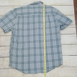 Merrell Shirts - Merrell Grey Plaid Short Sleeve Button Down
